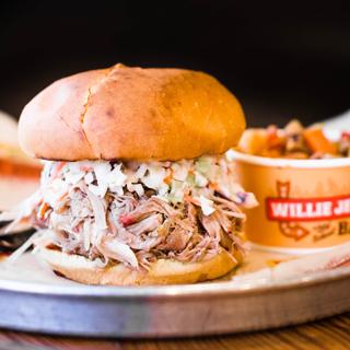 Delicious Slawpy Pig BBQ sandwich
